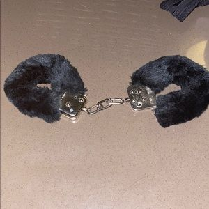 Other - Fuzzy black handcuffs